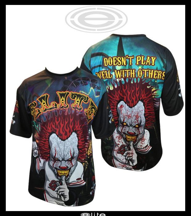 4cc948e090eb Elite jersey ESD 1063 Psycho Clown design template on a men s 2012 crew neck